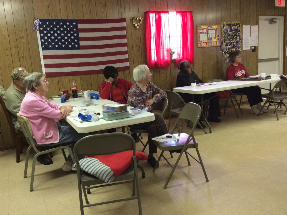 Talk at Billingsley Senior Center