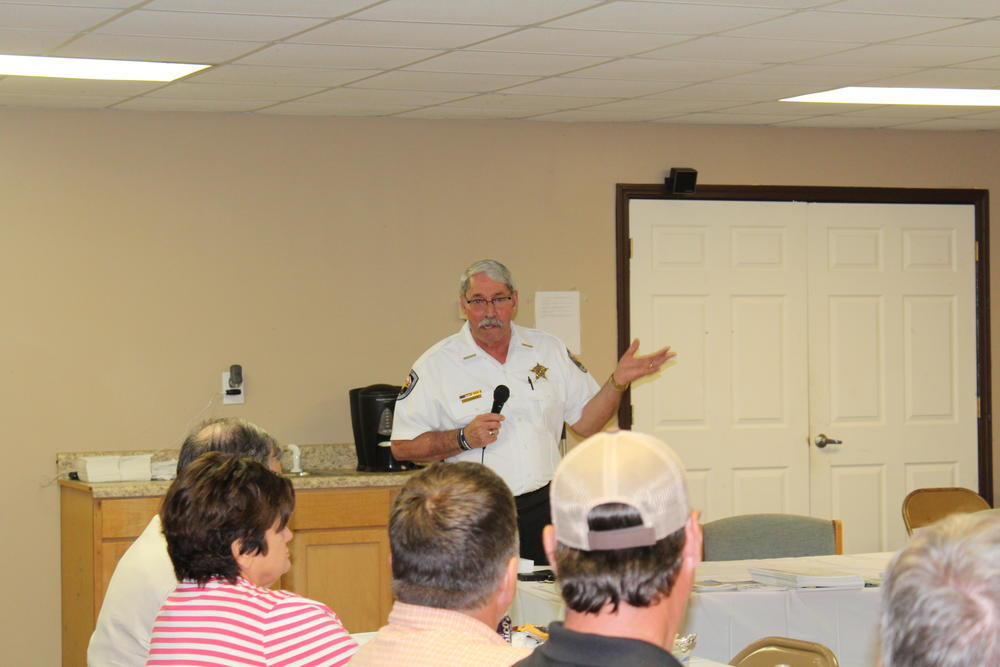Sheriff Joe Sedinger at Autaugaville Town Hall Meeting