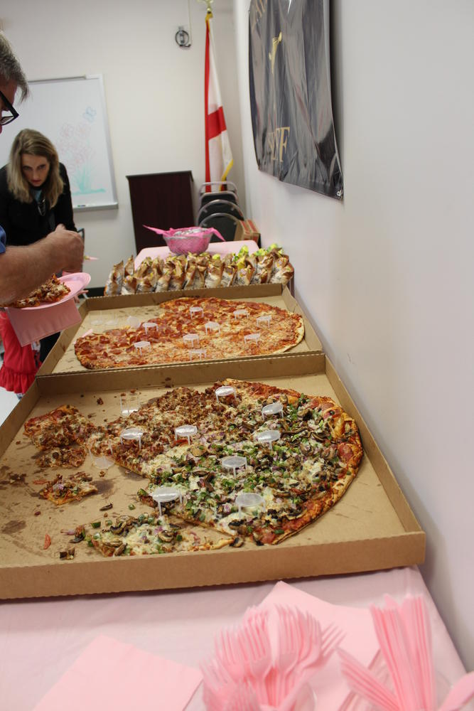 Pizza provided by Fox's Pizza Den