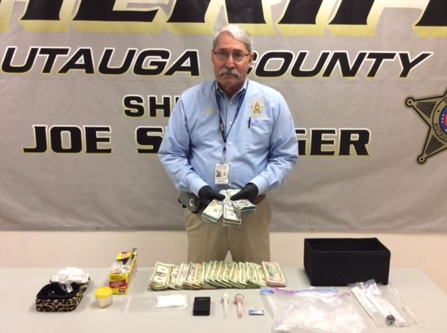 Drugs, Money and Paraphernalia from Drug Arrest